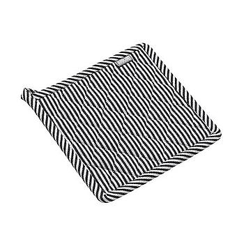 Jumbo Grytlapp Svart/Vit randig 100% Bomull
