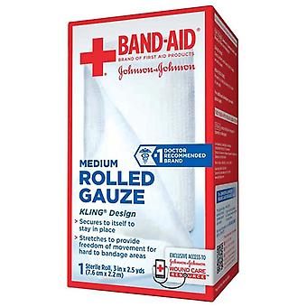 Band-aid medium rolled gauze, 3 inches x 2.5 yards, 1 ea