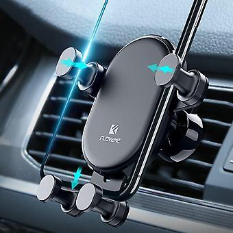 Floveme grawitacyjny linkage automatyczny zamek samochód zamontować uchwyt odpowietrznik do samsung xiaomi telefon komórkowy