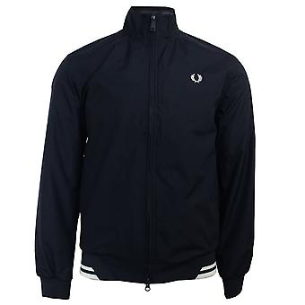 Fred perry men's twin tipped navy sports jacket