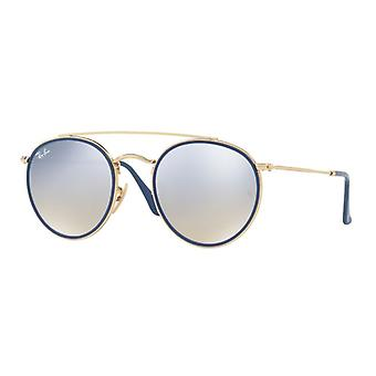 راي بان RB3647N 001/9U الذهب / براون التدرج والفضة مرآة النظارات الشمسية