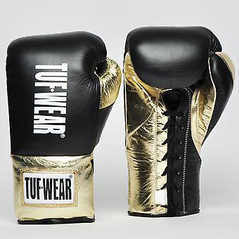 Tuf Wear Sabre Contest Gloves (British Board of Control Approved) Zwart / Goud
