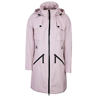 Creenstone Beige Hooded Rain Coat With Black Detail