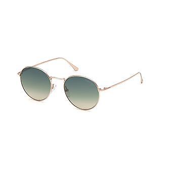 Tom Ford Ryan-02 TF649 28P Shiny Rose Gold/Green Gradient Sunglasses
