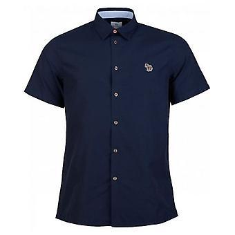 Paul Smith kort ermer Zebra Oxford skjorte
