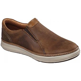 Skechers Moreno Nector Slip On Shoe Leather Standard Fitting Shoes