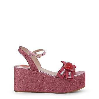 Woman leather wedges shoes kf30103