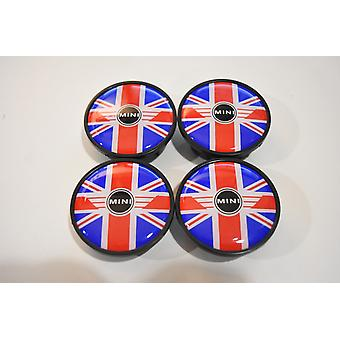 UK Flag Mini Cooper Wheel Centre Caps Hub Badges 54mm 4PCS For Clubman Clubvan Countryman Paceman Roadster