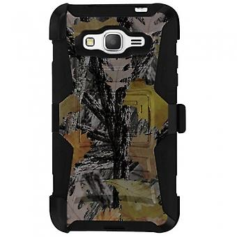 SAMSUNG GALAXY GRAND PRIME SHELL CASE ARMOR KOMBO WITH KICKSTAND - HUNTER
