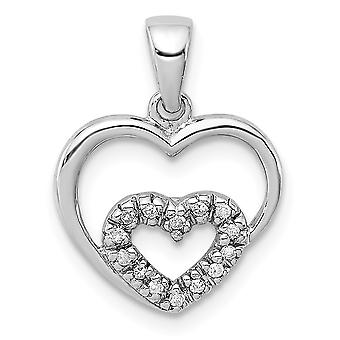 925 Ayar Gümüş Cilalı Rodyum Kaplama Rodyum Aşk Kalp Kolye Kolye Takı Takı Lar Kadınlar için