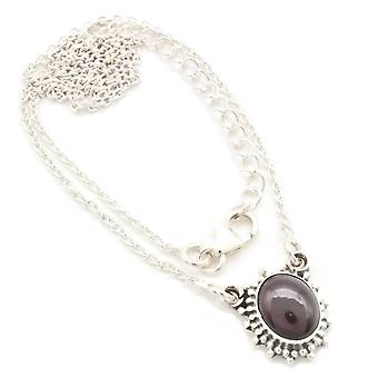Garnet Necklace 925 Silver Sterling Silver Necklace Red (MCO 12-02)