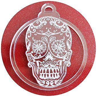 6 PK 日死んだキャンディ頭蓋骨アクリル クリスマスの装飾