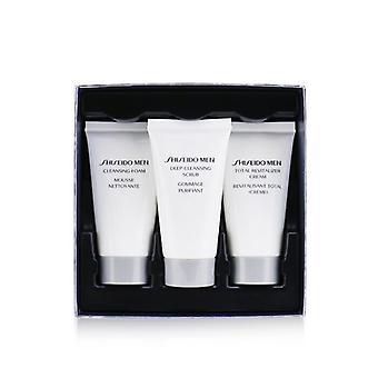 Shiseido koko ikä puolustus 3-kpl asettaa: puhdistus vaahto 30ml + puhdistus kuorinta 30ml + revitalizer kerma 30ml 3kpl 3kpl