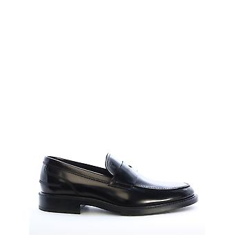 Tod's Xxm45a00640aktb999 Men's Black Leather Loafers