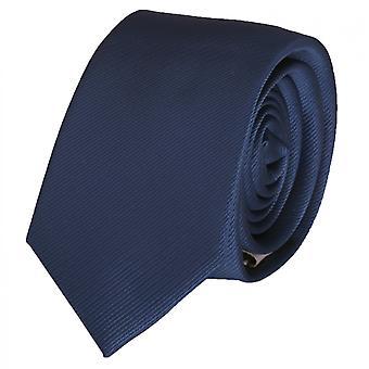 Binde binde slips slips 6cm mørk blå uni Fabio Farini stribet