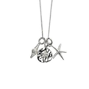 Beginnings Sterling Silver Set Small Conch Sand Dollar Small Starfish Charm Kit P4885