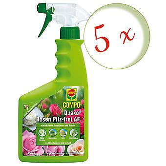 Sparset: 5 x COMPO Duaxo® Rosen Pilz-frei AF, 750 ml