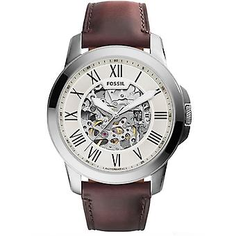 Fossil ME3099 Grant Automatic Beige Skeleton Dial Men's Watch