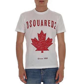 Dsquared2 S74gd0706s22427100 Män's White Cotton T-shirt