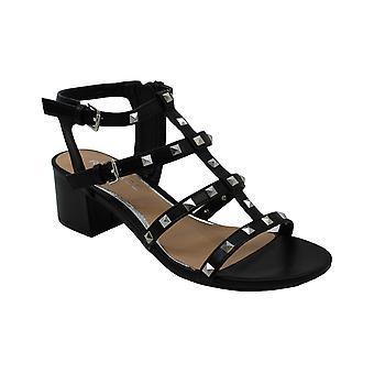 Rampage Women's Milty Heeled Studded Dress Sandals met Studs 9 Black