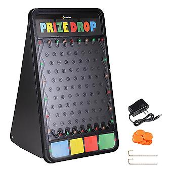 """WinSpin 41""""x25"""" Customizable Prize Drop Board Game with LED Light 12 Pucks for Live Stream Carnival Party Trade Show"""