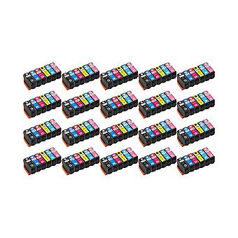 RudyTwos 20x Replacement for Epson 378XL Set Ink Unit Black Cyan Magenta Yellow Light Cyan & Light Magenta Compatible with XP-8500, XP-8505, HD XP-15000