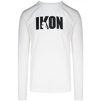 T-shirt à manches longues Lagerfeld White IKON