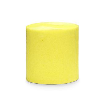 4 x 10m Rolos de Papel Crepe Amarelo - Decorações de Festa
