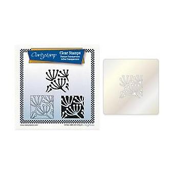 Claritystamp Quees Anne's Lace Kakel Square Stamp Set + Stencil