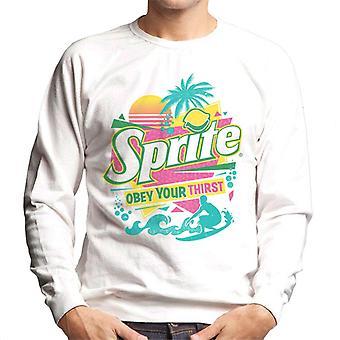 Sprite Retro 90s Beach Obey Your Thirst Men's Sweatshirt