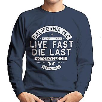Divide & Conquer Live Fast Die Last Men's Sweatshirt