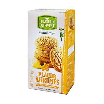 Organic candied lemon and orange plaisir shortbread 5 units of 35g