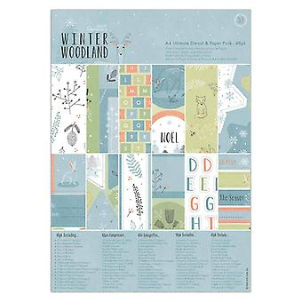 Papermania Winter Woodland A4 Ultimate Die-Cut & Paper Pack