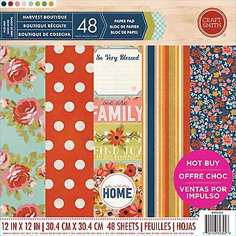 Craft Smith Harvest Boutique 12x12 Inch Paper Pad