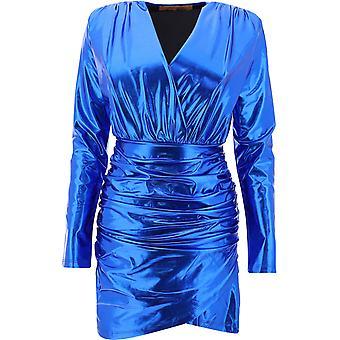 Andamane L02a5881202blue Kvinnor's Blå polyesterklänning