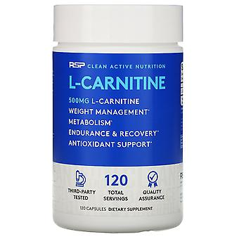 RSP Nutrition, L-Carnitine, 500 mg, 120 Capsules