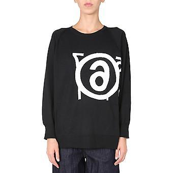 Mm6 Maison Margiela S32ha0575s17456900f Women's Black Wool Sweater