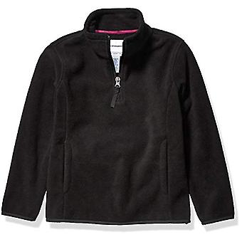 Essentials Girl's Quarter-Zip Polar Fleece Jacket, Svart, X-Large