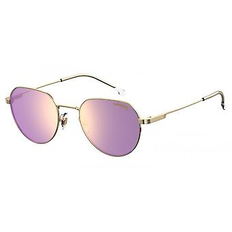 Sunglasses Unisex 2015T/S gold with pink glasses