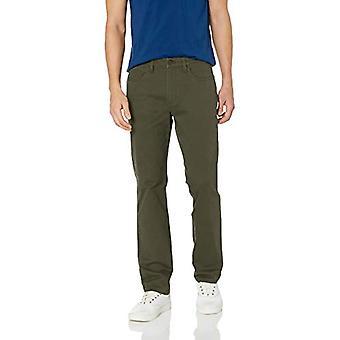 Goodthreads Men's Straight-Fit 5-Pocket Chino Pant, Olive, 31W x 32L