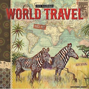 Gwen Trolez World Travel Square Wall Calendar 2021