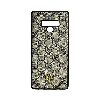 Phone Case Shockproof Cover Monogram GG For Samsung Note 9 (Cream)