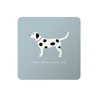 Bailey and Friends Dog Placemat Spotty Dog Blue