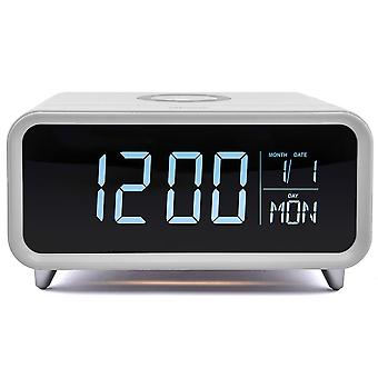 Athena Alarm Clock with Built-In Wireless Charger & Night Light - White GVWC01WE