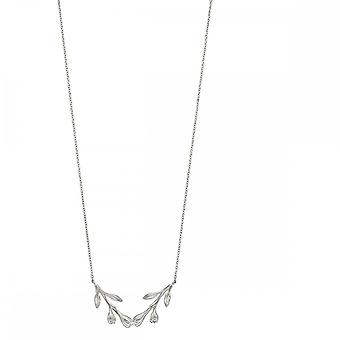 Elements Silver Flower Bud Necklace N4282