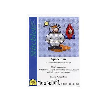 Spaceman Stitchlets Counted Cross Stitch Kit