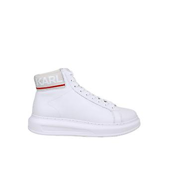 Karl Lagerfeld Kl52550011 Hombres's zapatillas de cuero blanco Hi Top