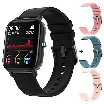 P8 1,4 tommers smart klokke menn full touch fitness tracker blodtrykk, smart