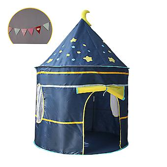 Children's Castle Indoor Playing Tent And Colorful Flags