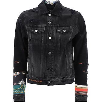 Amiri W0m04603rdantiqueblack Men's Black Cotton Outerwear Jacket